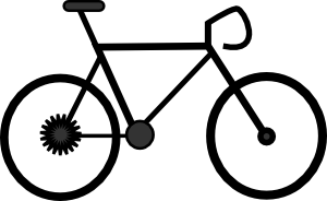 300x184 Bike clip art Free Vector 4Vector