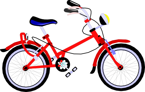 600x380 Red Bicycle Clip Art