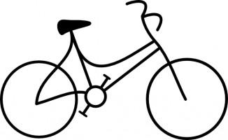 326x200 Bike Clip Art Black And White Clipart Panda