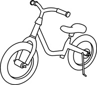 195x171 Free Black And White Transportation Outline Clipart