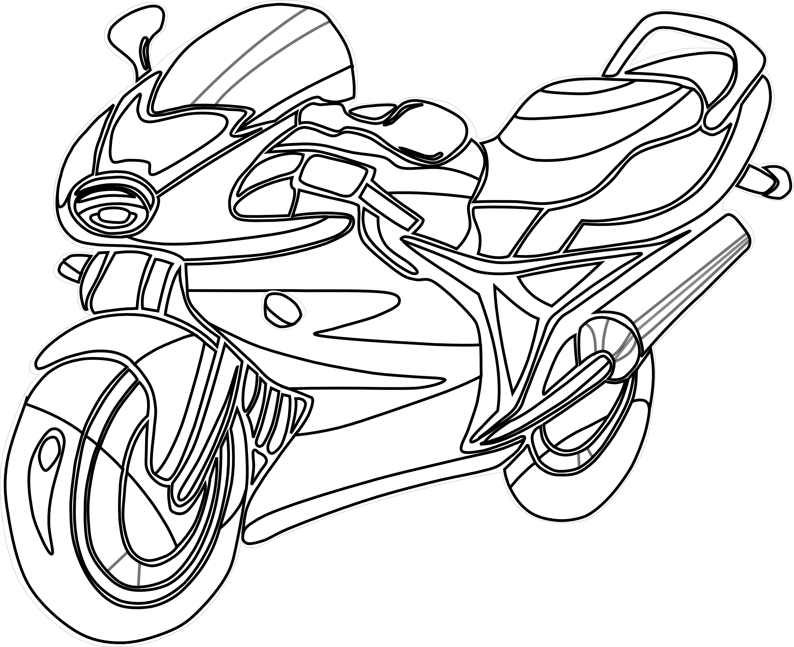 2555x2081 Motorcycle Clipart Black And White Free Clipart