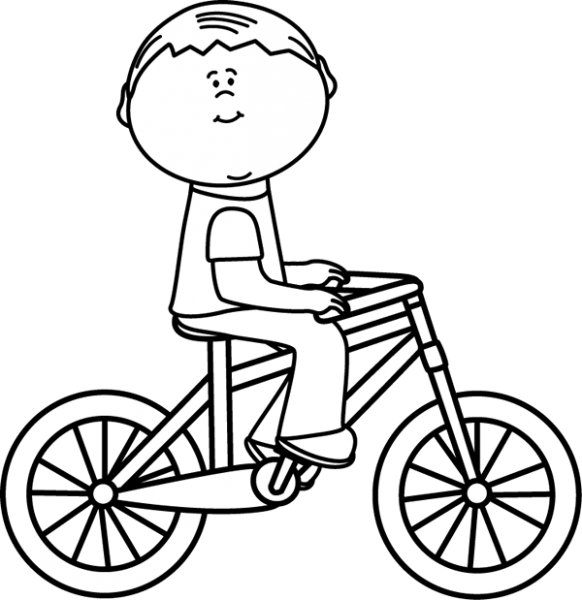 582x600 Riding Bicycle Clipart Black And White 7 Nice Clip Art