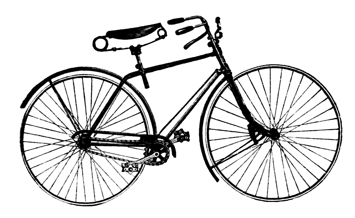 Bike Clipart Black And White | Free download best Bike Clipart ... for Bicycle Clipart Black And White  197uhy