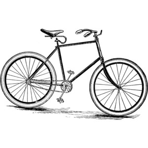 300x300 Bicycle Black And White Clip Art