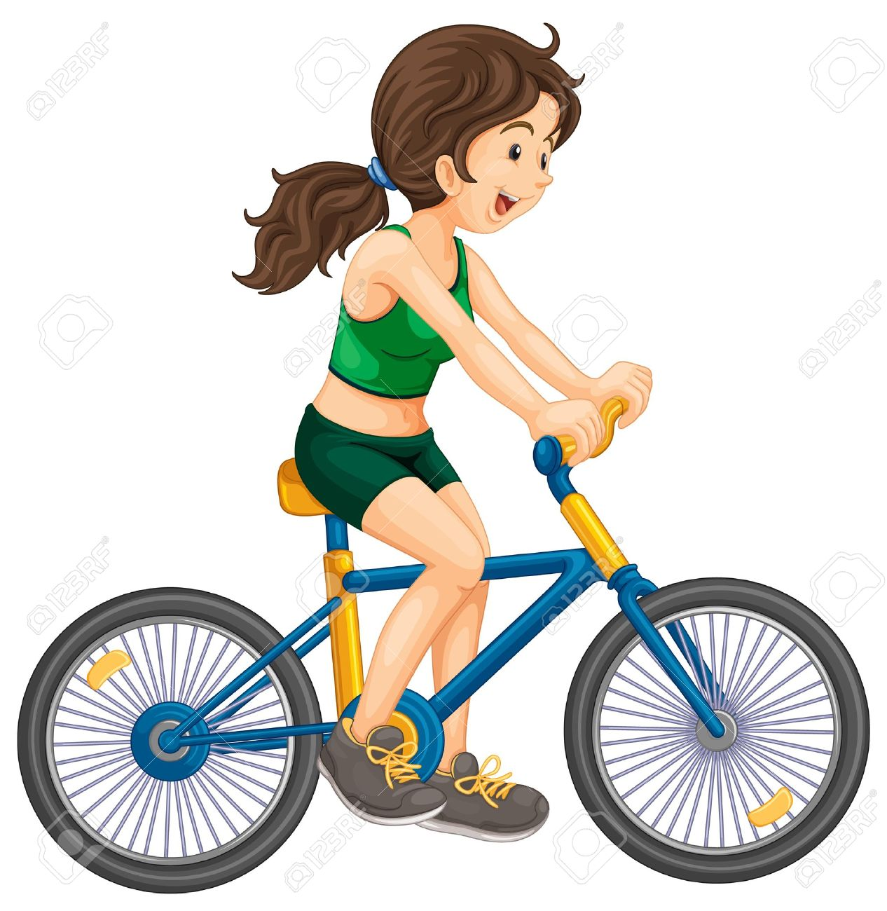 1266x1300 Bicycle Clipart Riding Bike