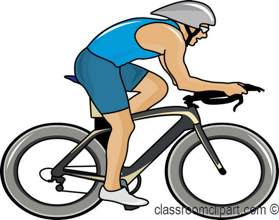 550x434 Bicyclist Clipart