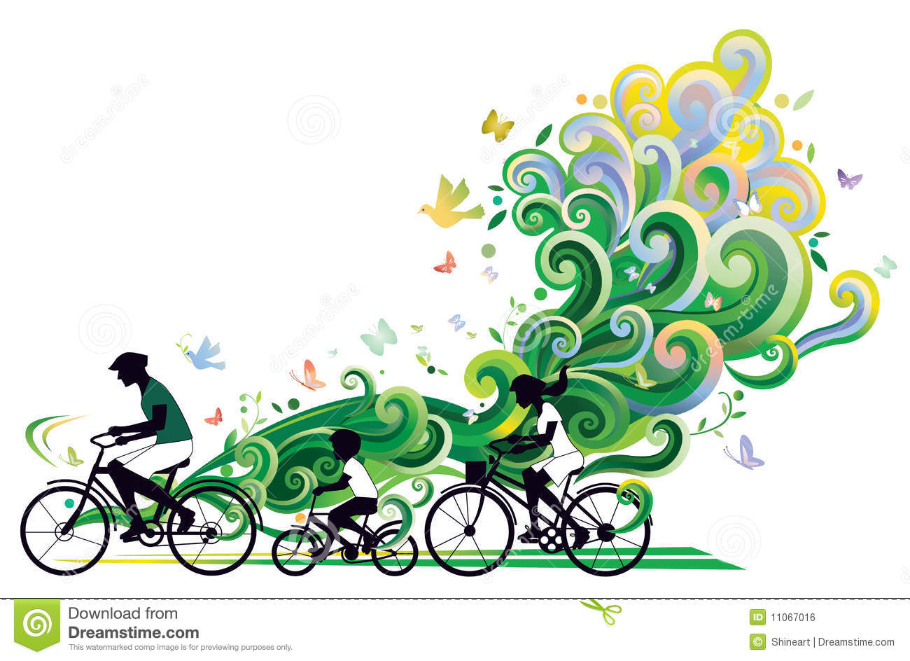 1300x944 Bicycle Clipart Family Cycling