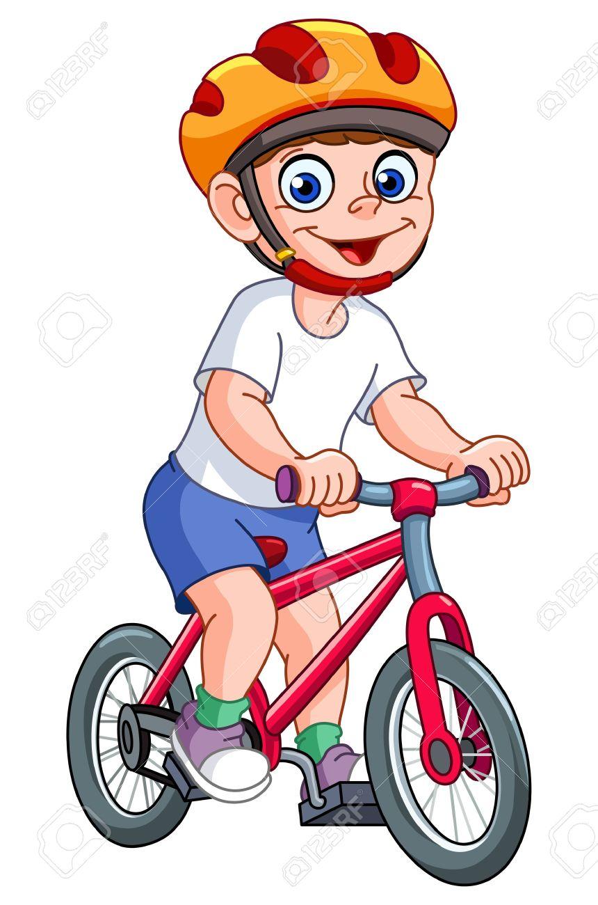 860x1300 Bike Clipart Boy