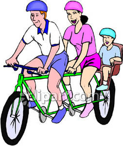 253x300 Family Bicycle Clipart, Explore Pictures