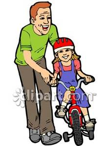 225x300 Learning To Ride A Bike Clipart