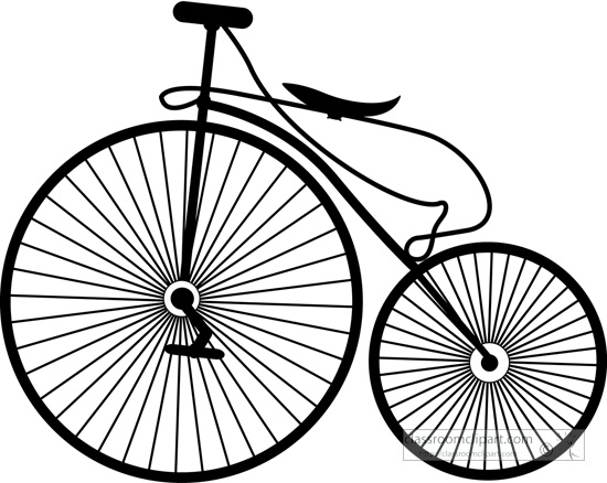 550x438 Bicycle Clipart Old Bike High Wheel Bicycle