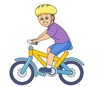 195x172 Bike Rider Clipart