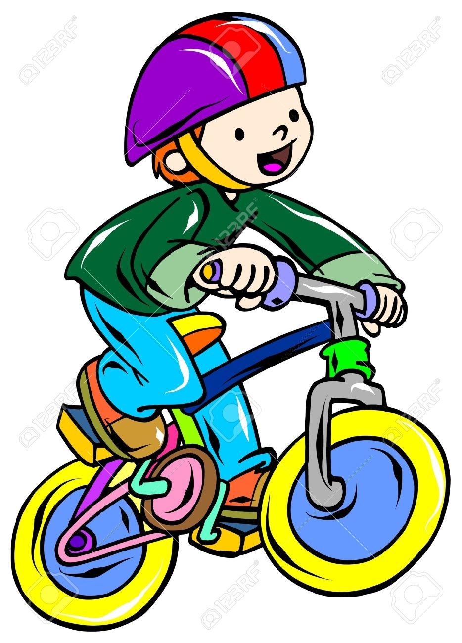 934x1300 Kid Riding A Bike Clipart