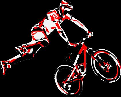 421x336 Mountain Bike Rider Clip Art Cliparts