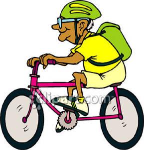 289x300 Old Man Riding A Pink Bike