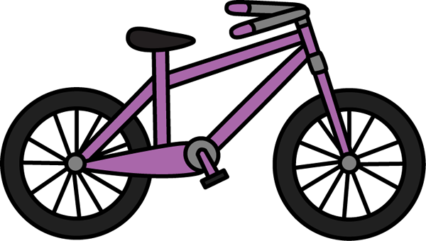 600x340 Bike Purple Bicycle Clip Art Purple Bicycle Image Image