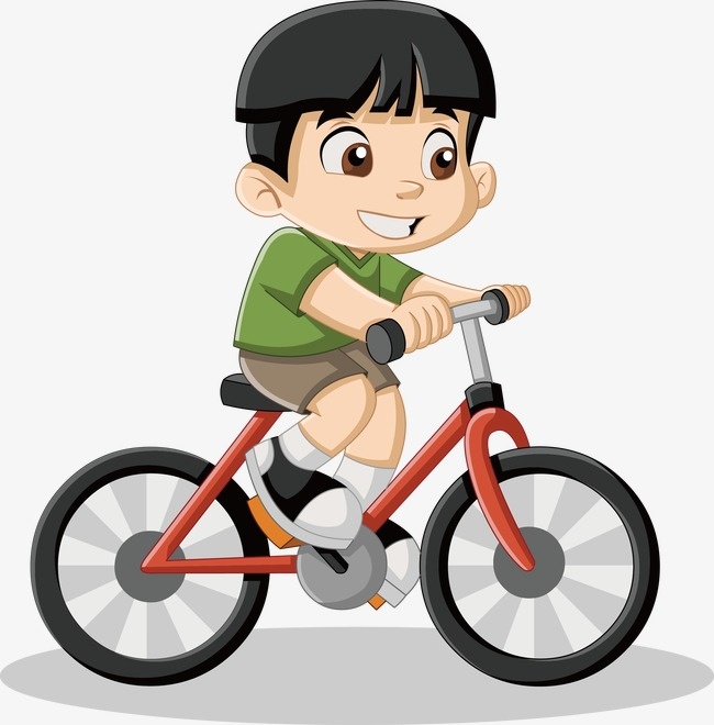 650x660 Little Boy Riding A Bike Vector, Little Boy, Bicycle, Cartoon