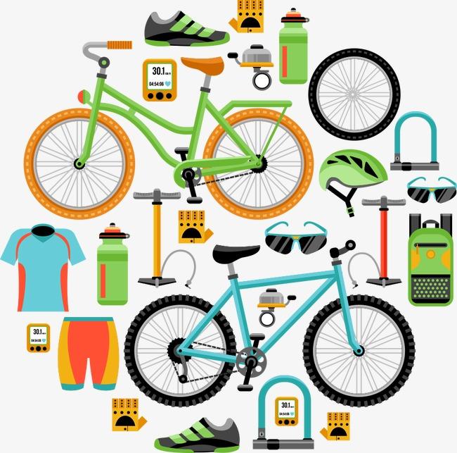 650x643 Vector Mountain Biking, Mountain Biking, Bicycle, Cartoon Bicycle