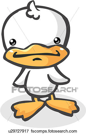 303x470 Clip Art Of Fowl, Duckling, Bill, Beak, Drake, Webfoot, Duck