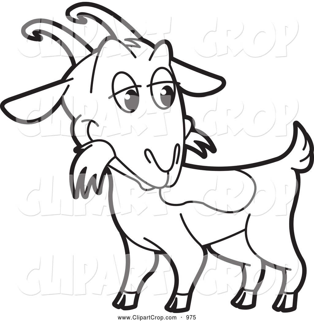 1024x1044 Billy Goat Clipart Line Drawing