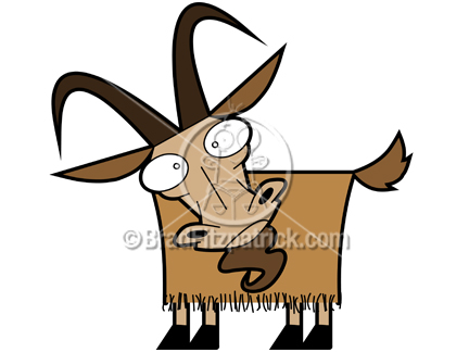 432x324 Cartoon Goat Clipart Character Royalty Free Goat Picture Licensing.