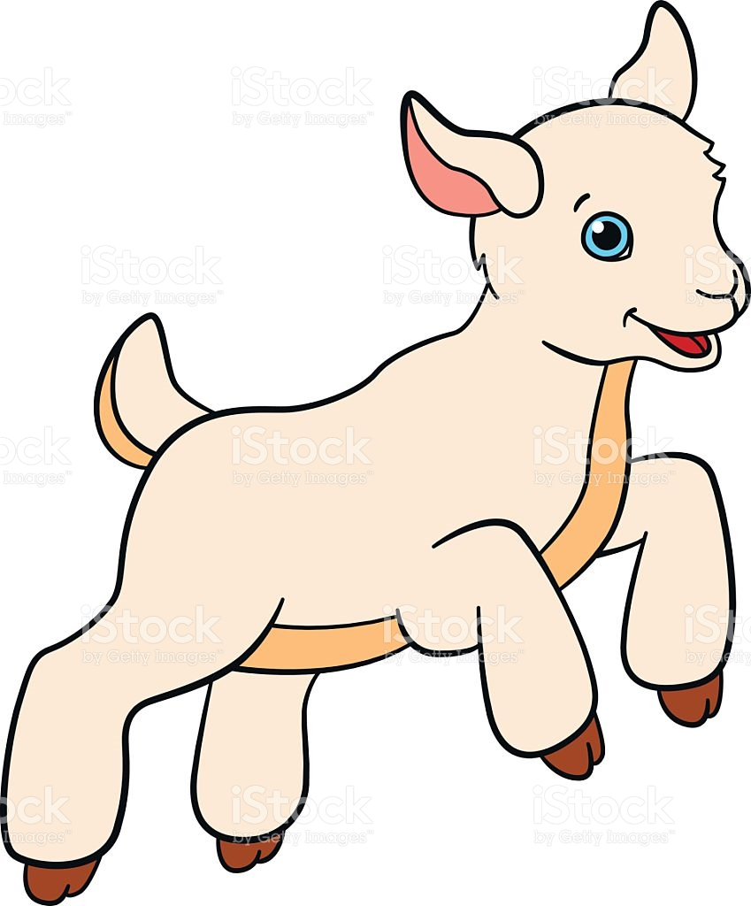849x1024 Billy Goat Clipart Baby Goat