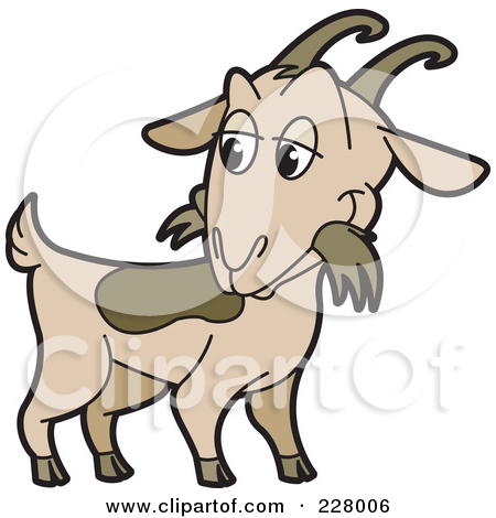 450x470 Billy Goat Clipart Graphic