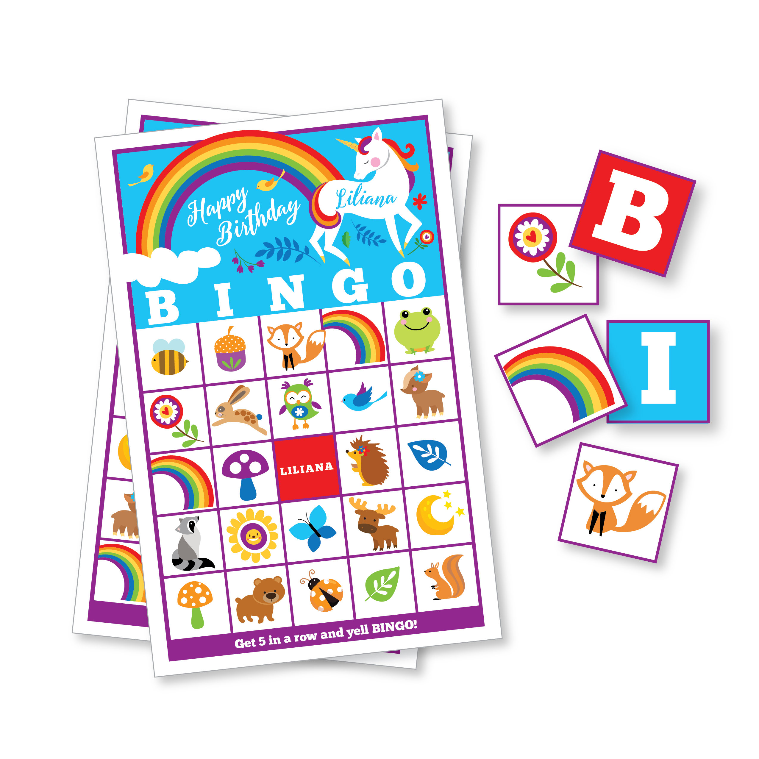 2550x2550 Mermaid Bingo Game Kids Printable