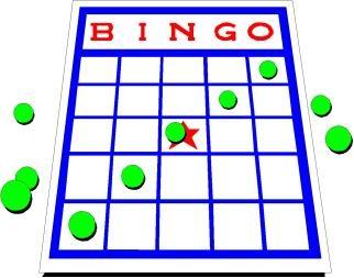 322x253 Bingo Card Clipart