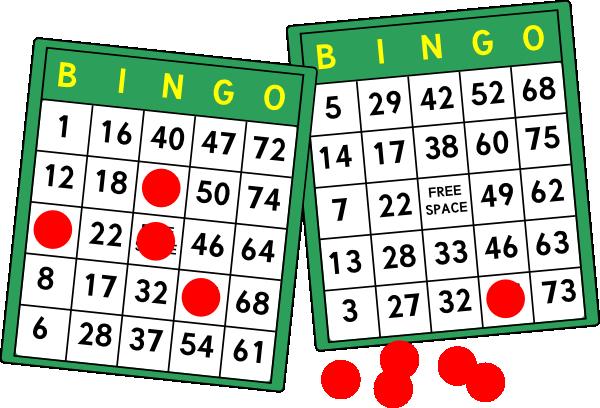 600x408 Bingo Cards Clip Art