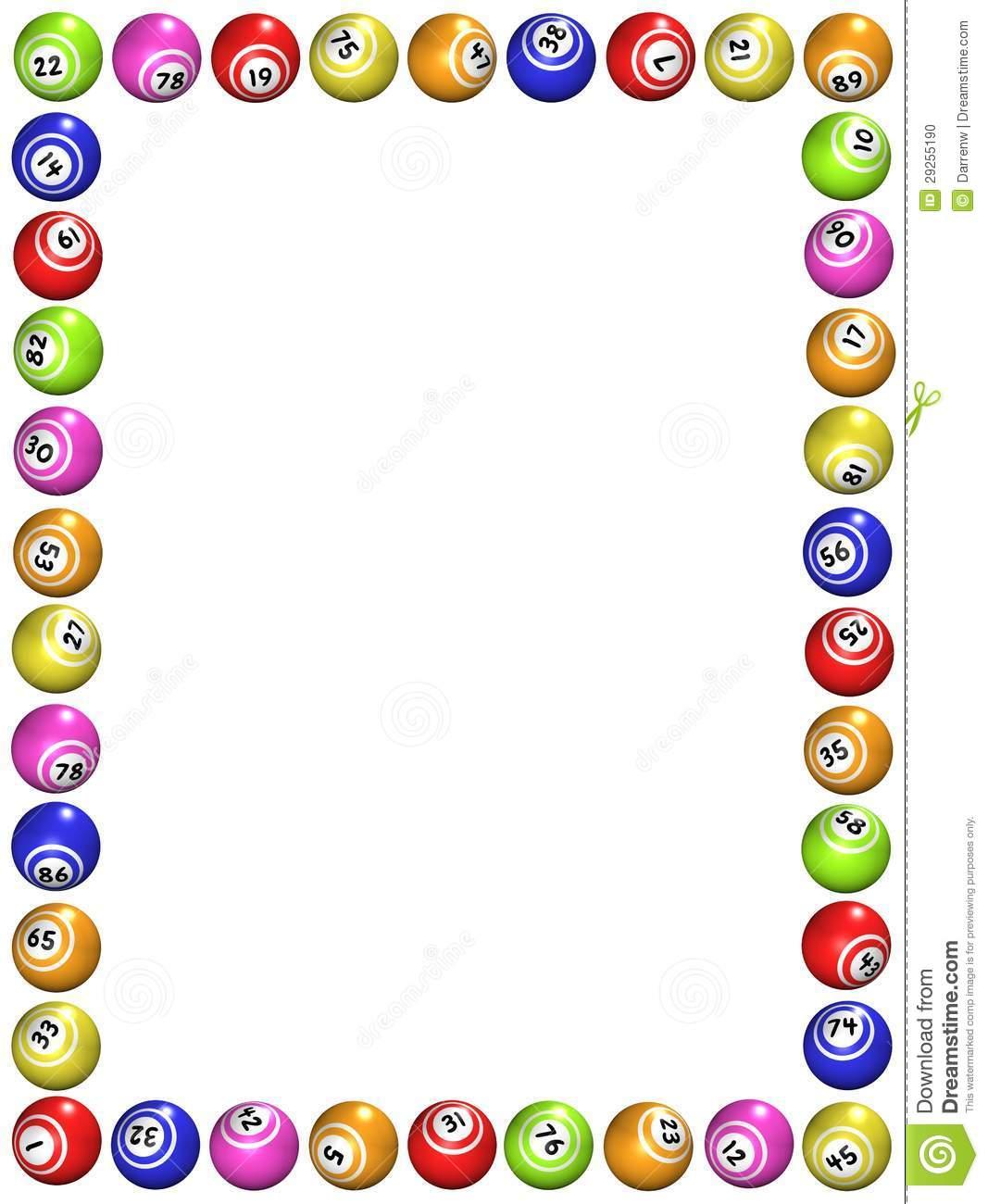 1067x1300 Bingo Clip Art Borders 101 Clip Art