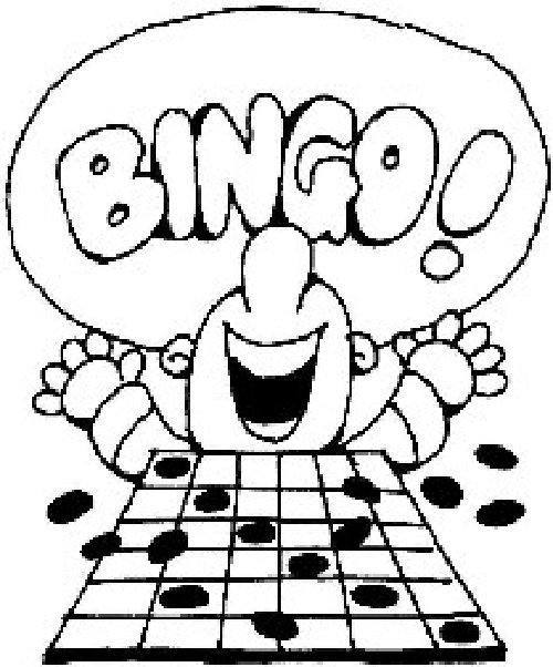500x602 Black And White Bingo Clip Art