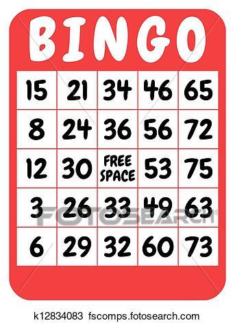 343x470 Drawing Of Bingo Card K12834083