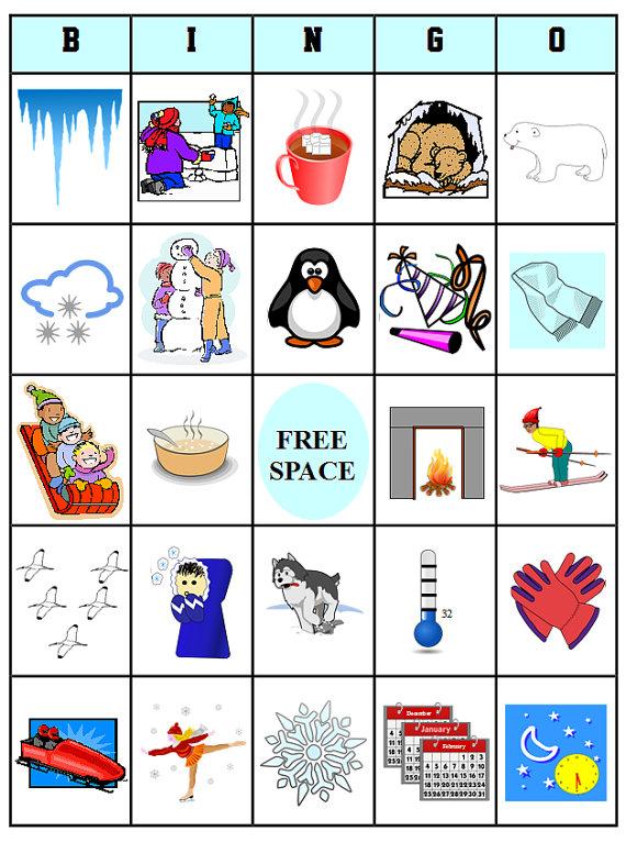 570x766 Printable Winter Bingo 54 Bingo Cards Download This Pdf