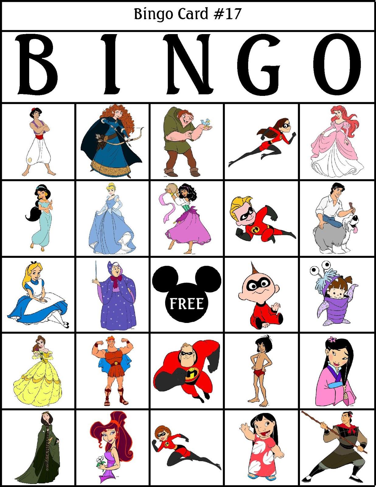 1236x1600 Robbygurl's Creations Disney Bingo