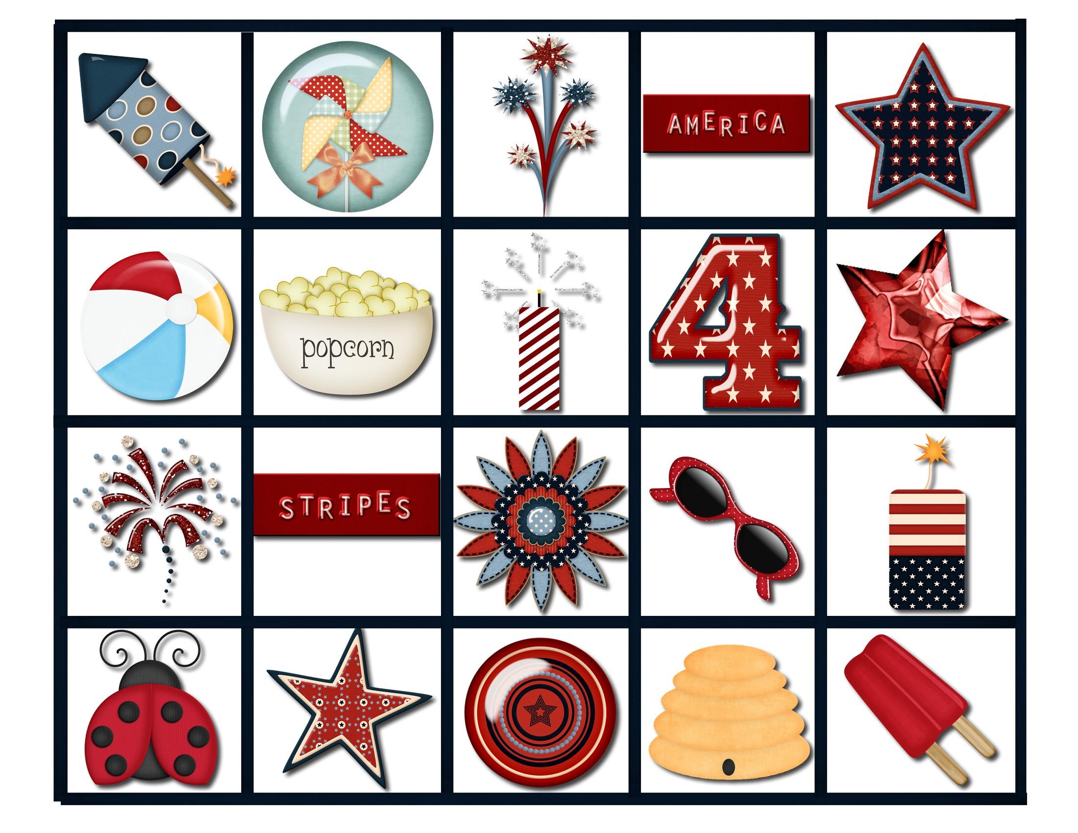 2200x1700 4th Of July Bingo Game 4th Of July Bingo 006 Calling Cards 2