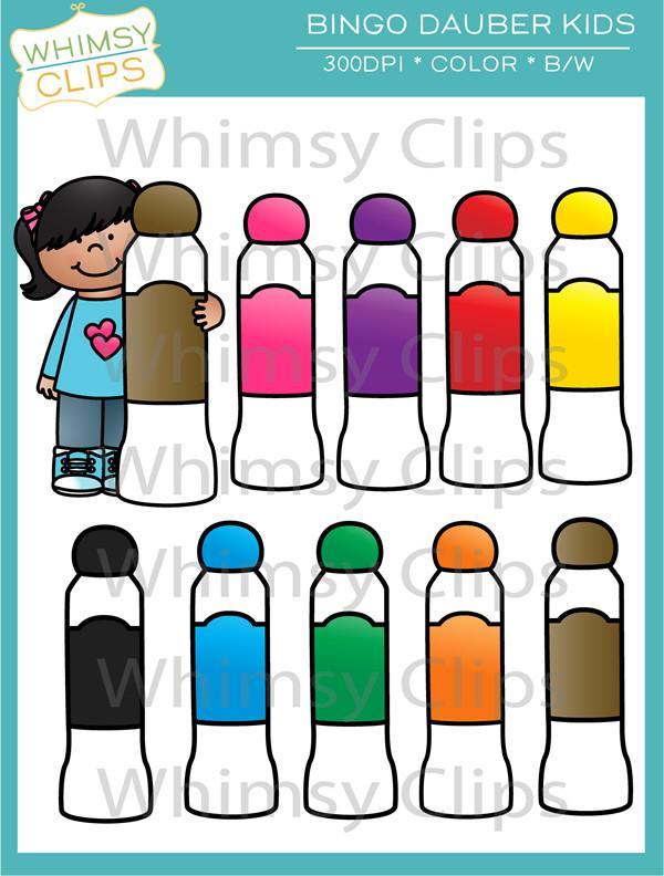 600x792 Bingo Dauber Kids Clip Art , Images Amp Illustrations Whimsy Clips