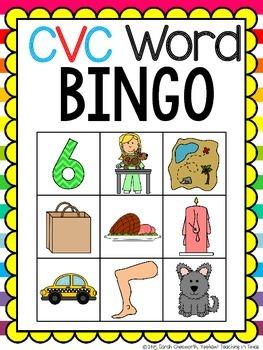 263x350 Cvc Word Bingo Game By Yeehaw Teaching In Texas Tpt