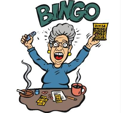 406x378 Cartoon Bingo Clip Art Dromggi Top Clipartcow 2