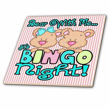 355x354 3drose Ct 104460 2 Bear With Me Its Bingo Night Cute Bingo Bear