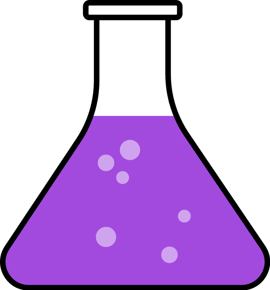 900x968 Purple Science Flask Clipart Biochemistry Biology Chemical