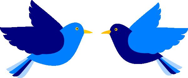 600x250 Blue Bird Flying Clip Art Cliparts