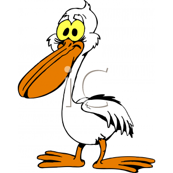 350x350 Royalty Free Pelican Clip Art, Bird Clipart