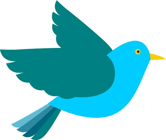 555x470 Clip Art Bird Blue