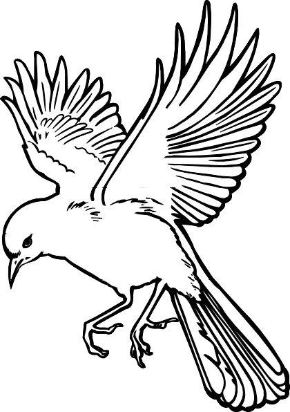 420x596 Bird Outline Clip Art