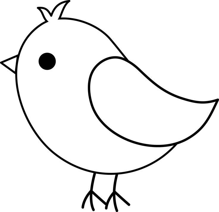 Birds outline. Bird clipart free download