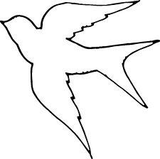 225x224 Dove Outline Bird Vinyl Decal Clipart Panda