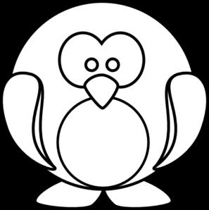 297x298 Penguin Outline Clip Art