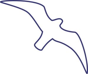 298x249 Seagull Outline Line Drawing Clip Art Bird Art Image