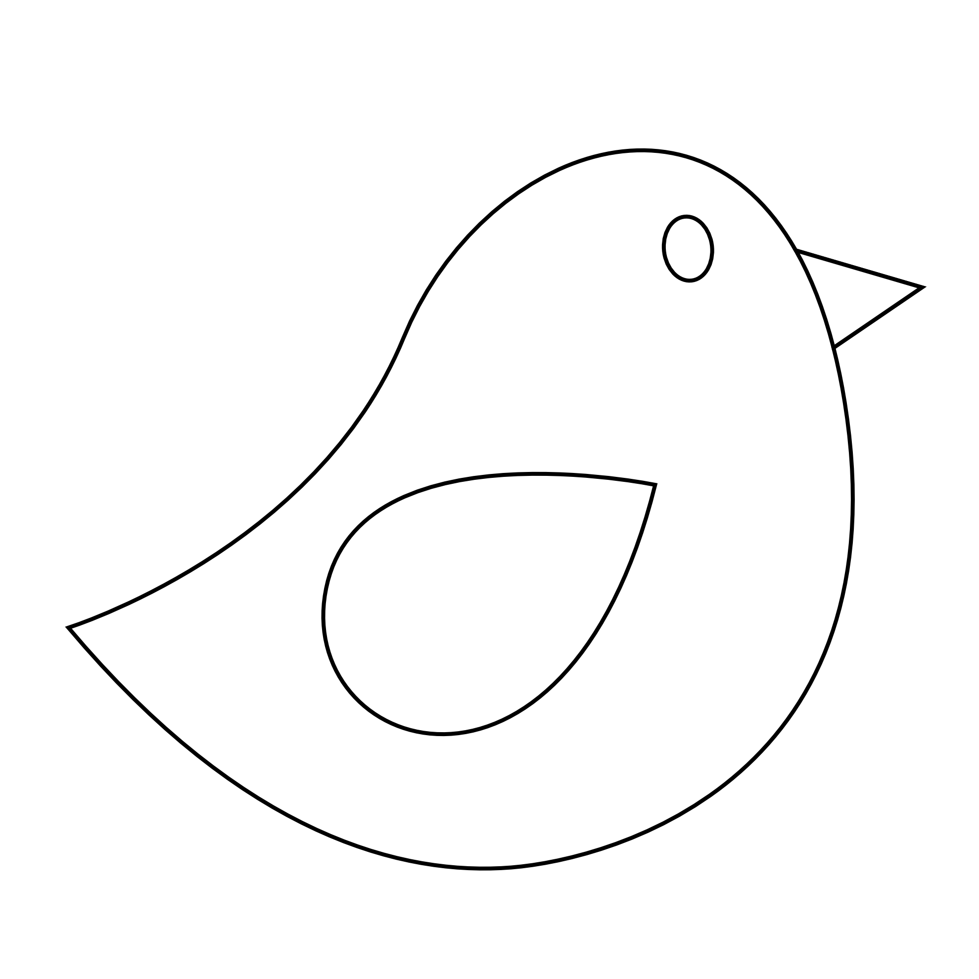 1979x1979 Outline Of Birds Clipart